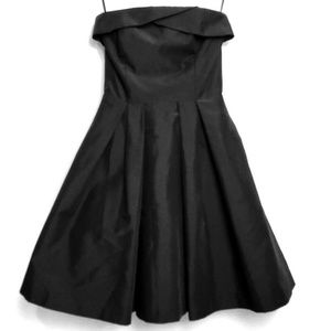 White House Black Market Strapless Black Dress 2